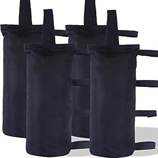 ABCCANOPY 重型高级即时收容机 Gazebo 重量袋 – 每包 4 – 40 磅容量 king weight bag-Black-Single