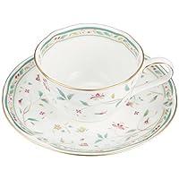 Noritake(諾莉塔克) 骨瓷 花更紗 茶葉·咖啡碗盤 對裝 P59387A/4409