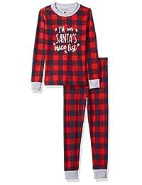 Petit lem 儿童假期睡衣配套2件套优质弹力棉质睡衣套装