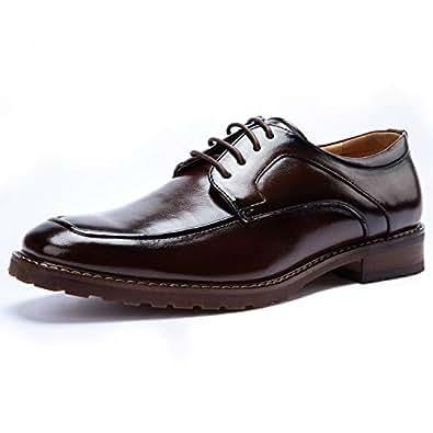 BESTON 男式系带正装鞋 葡萄酒色 6.5 M US