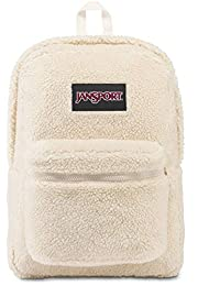 JanSport Super FX 双肩背包 - 独特的纹理表面时尚书包 Soft Tan Sherpa 均码
