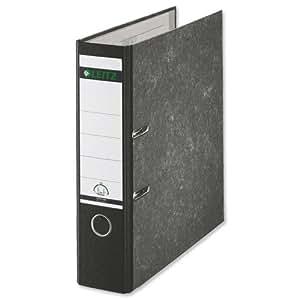 Leitz 标准杆拱形文件 80 毫米 Spine Foolscap 黑色参考 1082-95 [10 件装] 黑色