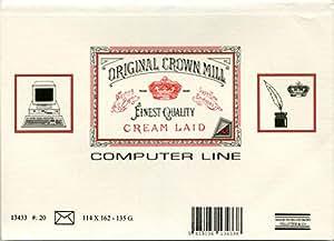 ORIGINAL CROWN MILL C6信封 20枚 奶油色