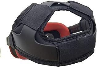頭帶墊和頭帶重力減壓頭墊墊適用于 Oculus Quest 耳機配件,舒適 PU 皮革表面和柔軟泡沫墊(黑色)
