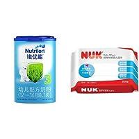 Nutrilon诺优能3段幼儿配方奶粉(12-36个月) 800g*2+德国 NUK 超厚特柔婴儿湿巾 20片单包