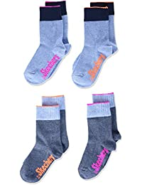 Skechers Skechers 短袜女孩运动袜,4 件装
