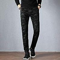 帝克凯龙秋冬新款棉弹时尚洗水弹力修身小脚直筒男士牛仔裤N7161