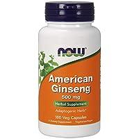 NOW Foods - 美国人参 5% Ginsenoside 500 镁。100 胶囊