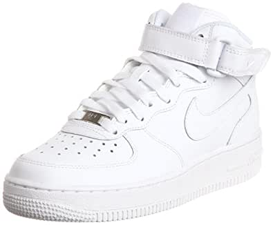 Nike Boy's Air Force 1 Mid White Size 5 M US
