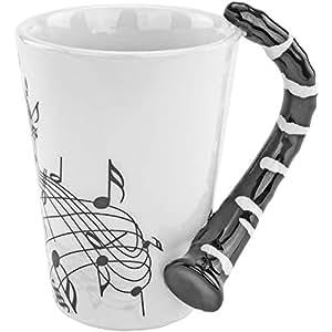 Fairly Odd Novelties Clarinet 音乐咖啡杯,白色 白色 COMINHKG107102