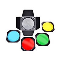 Bresser F000115 Photo Studio M 22 Barn 门套装适用于反光板,直径 17.5 cm 黑色