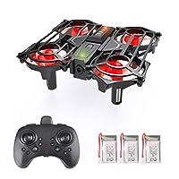 Ledoo 兒童迷你無人機,初學者遙控直升機帶自動懸浮,室內小飛無人機,3D 翻轉,無頭模式和 3 個電池玩具,適合男孩和女孩