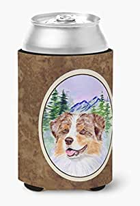 Caroline's Treasures SS8001-Parent 澳大利亚牧羊犬超饮料绝缘器适用于小型罐 SS8001MUK,多色 多种颜色 Can Hugger SS8001CC