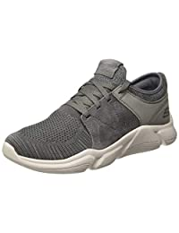 Skechers 斯凯奇 Drafter Wellmont 男式灰色纺织低帮系带运动鞋