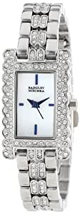 Badgley Mischka 女士 BA/1269WMSB 施华洛世奇水晶点缀银色手链手表