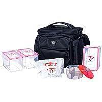 Fitmark the Shield Meal Prep 隔热袋,带分量控制用餐容器、可重复使用的冰袋和维生素容器 午夜黑 the Shield 20557011