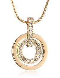 Swarovski 施华洛世奇 女士简约圆环仿水晶吊坠玫瑰金项链1081976(奥地利品牌 )