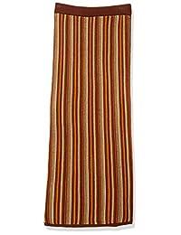 ATSUGI 厚木 裙 【Ca】条纹针织裙 女士 112020805401 橙色 日本 F (FREE サイズ)