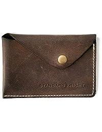 手工制作极简风格按扣钱包   John Muir – 复古前口袋超薄卡夹,疯马皮革
