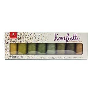 WonderFil *丝绸包,双串接埃及棉线条,50 瓦 森林地板 KTBFORRESTFLOOR