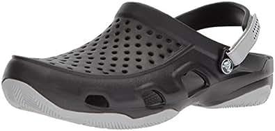 Crocs 卡骆驰 Swiftwater 男式 洞洞鞋 Black/Light Grey 7 M US