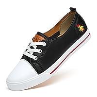 FeO DvKe 铁公爵 夏季情侣款板鞋 真皮板鞋 情侣小白鞋 刺绣小蜜蜂板鞋 ND85-Z6605-V