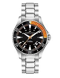 Hamilton H82305131 银色 40mm 不锈钢卡其色*蓝 Scuba 自动男式手表