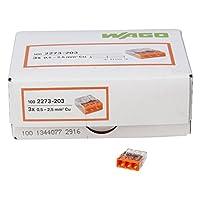 kopp 33346421wago COMPACT junction 终端3WIRE clamps 橙色0.5–2.5mm ² 100个装透明 / 橙色