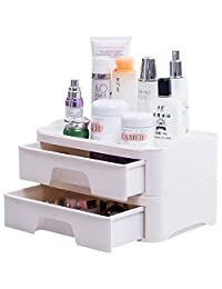 BAOYOUNI宝优妮化妆品收纳盒桌面抽屉式塑料整理柜办公多功能置物架 DQ1703-4(供应商直送)