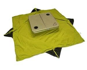 """Tablanket 野餐桌,灰色桌面和皇家蓝毯 24""""x12""""x4"""" folded / 78""""x78""""x9"""" unfolded * 4316464037"""