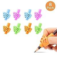 儿童手写铅笔握,8支装,儿童铅笔握,儿童和幼儿或成人的铅笔筒,学校和学龄前书写,训练写,手指握,右撇子和左撇子
