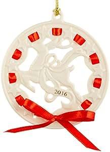 Lenox 2016 Christmas Wrappings Reindeer Ornament
