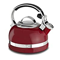 KitchenAid KTEN20SBER 2.0-Quart Kettle with Full Stainless Steel Handle and Trim Band - Empire Red 需配变压器