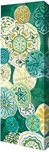 "PrintArt GW-POD-11-MFY-127-10x30""靛蓝勋章板II""来自 Margaret Ferry 画廊装裱油画艺术微喷 7"" x 20"" GW-POD-11-MFY-127-7x20"
