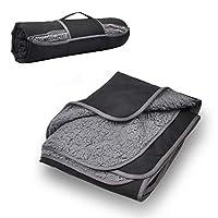 防水汽车Repaire 抱毯,129.54 cm x 149.86 cm 轮胎更换夏尔巴羊毛垫适用于旅行、露营、远足、音乐会和足球 - 可机洗