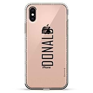 Luxendary Air 系列透明硅胶保护套 3D 印花设计气袋缓冲缓冲 iPhone Xs/X(5.8 英寸屏幕)LUX-IXAIR-NMDONALD2 NAME: DONALD, MODERN FONT STYLE 透明