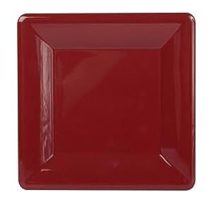 Caspari 7 英寸方形涂漆充电器,Sienna