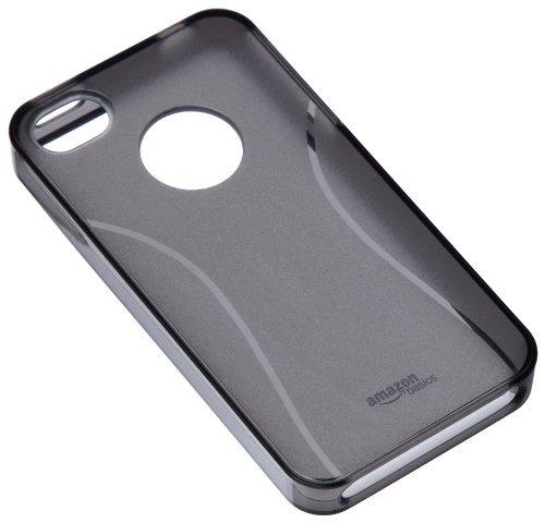 AmazonベーシックAT&TとVerizon iPhone 4とiPhone 4S(*スモーク色)用のスクリーンプロテクターで保護シェルTPUケース