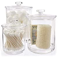 STORi 优质透明塑料Apothecary 罐 透明 15 ounce 30 ounce 60 ounce 1865