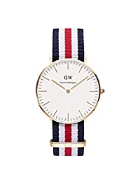 【跨境自营】Daniel Wellington 丹尼尔·惠灵顿 Classic系列 时尚女士尼龙表带手表 0502DW(瑞典品牌)