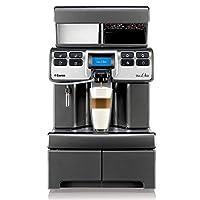 Saeco Aulika Top Ri 高速卡布奇诺独立全自动咖啡机 – 自由式咖啡组合,4 升,集成研磨机,1400 瓦,银色)