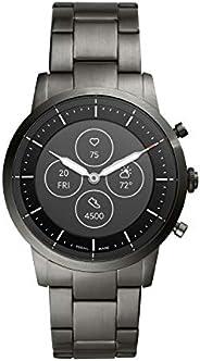 FOSSIL 男式 Collider HR 心率不銹鋼混合智能手表