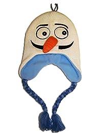 迪士尼女孩冰雪奇缘奥拉夫针织斯堪的纳维亚帽 - 尺码 4-7 [4011]