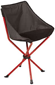 """Picnic Time PT-Odyssey Compact Portable Folding Chair 灰色/红色 Open 20"""" X 14"""" X 30""""/Folded 19"""""""