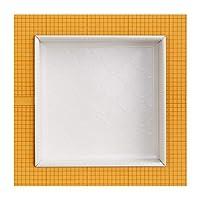 Grout Ready Niche 嵌入式淋浴架   阿拉伯瓷砖 预装 30.48 厘米 x 30.48 厘米 Schluter Kerdi 板单间浴室架   收纳洗发水和肥皂 抛光白色 16x16x4