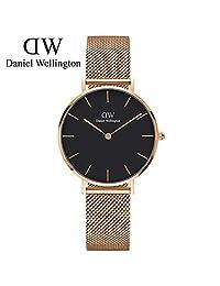 丹尼尔惠灵顿 DanielWellington DW手表新款32mm金色边黑盘不锈钢米兰风格表带DW00100161 瑞典品牌 专柜同款
