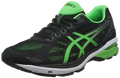 ASICS 亚瑟士 男 跑步鞋GT-1000 5  T6A3N-9085 黑色/绿色/炭灰 39