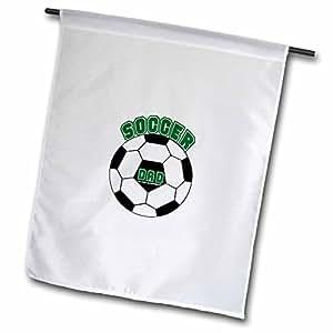 deniska Designs 足球–SOCCER DAD–旗帜 12 x 18 inch Garden Flag