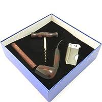 *草管礼品套装 - Mr. Brog Silver 系列 - 管子、支架、捣蛋器、打火机、开*器 - 手工制作