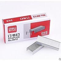 得力 0012订书钉24/6通用型订书针12号钉书针办公文具用品(2盒